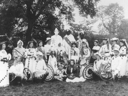 Coronation cycle parade, Walkern, 9 August 1902