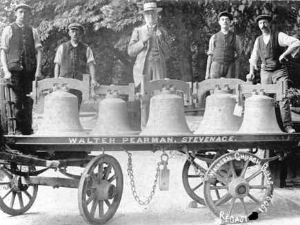 St Mary's church bells, recast 1909