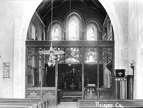 St Mary's church interior, Walkern