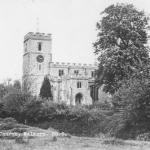 St Marys Walkern from Bridgefoot field 1958 postmark