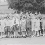 School class, Walkern, about 1955