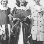 1935 Jubilee celebrations, Walkern 01. Posy, Dolly and Nance