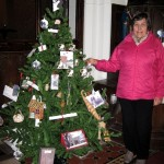 Eleanor setting up the WHS Christmas tree