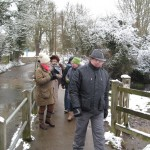 2013 03 24 Committee members brave the cold for a walkabout 05