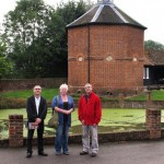 Jean-Jacques & Jean Pierre Fournier with Janet at Walkern dovecote