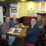 Jean Pierre, Janet, Jean-Jacques and John at the Yew Tree
