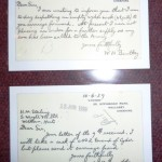 Wright's Correspondence - 'show & tell' 26 April 2012