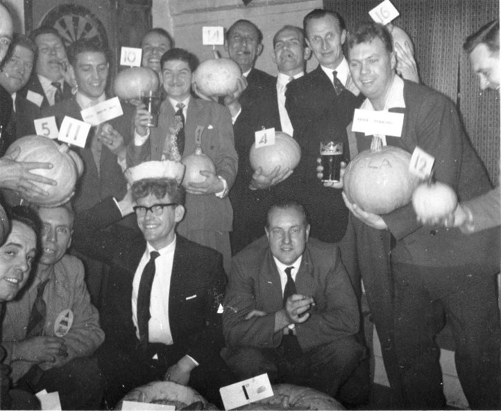 1961 Pumpkin competition at the White Lion