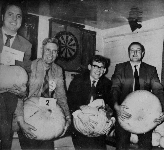 Winners (and cheater) of the 1961 Pumpkin Competition