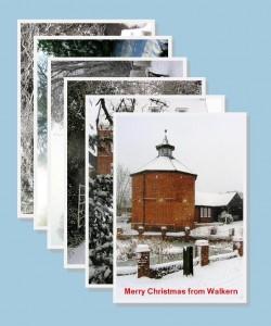 Christmas cards: Winter Walkern x 6