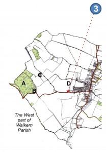 Board E3 Walkern History Trail western parish map