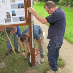 2013 10 05 Installing Walkern History boards 43