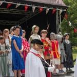 04 Costumes at Walkern Magna Carta Fair Peter Ravilious 01