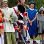 04 Costumes at Walkern Magna Carta Fair Peter Ravilious 02