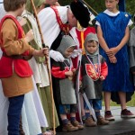 04 Costumes at Walkern Magna Carta Fair Peter Ravilious 03