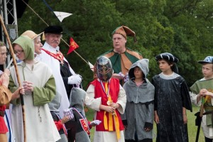 04 Costumes at Walkern Magna Carta Fair Peter Ravilious 04