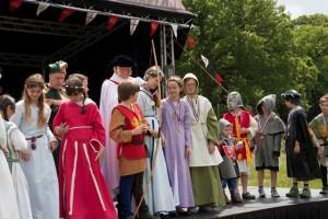 04 Costumes at Walkern Magna Carta Fair Peter Ravilious 06