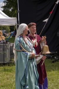 04 Costumes at Walkern Magna Carta Fair Peter Ravilious 09