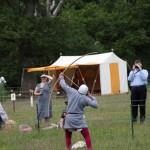06 Company de Lanvalei at Walkern Magna Carta Fair Peter Ravilious 02