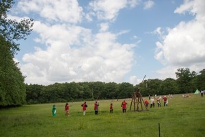 06 Company de Lanvalei at Walkern Magna Carta Fair Peter Ravilious 03