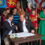 11 Twinning with Lanvally at Walkern Magna Carta Fair 28 06 2015 Peter Ravilious 18