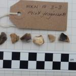 Finds test pit Bridgefoot 3-3 flint