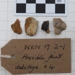WKN 19-2-1 finds 03 flint debitage