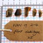 WKN 19-2-4 finds 02 flint debitage